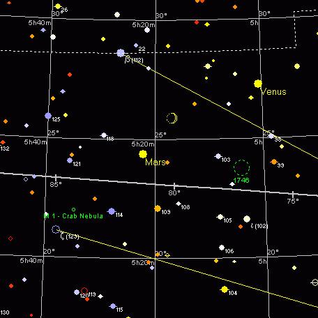 Planety i Księżyc, 23 kwietnia 2004, 21:30