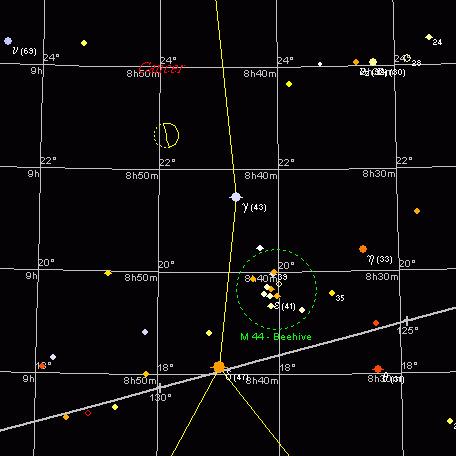 Żłóbek i Księżyc, 27 kwietnia 2004, 21:30