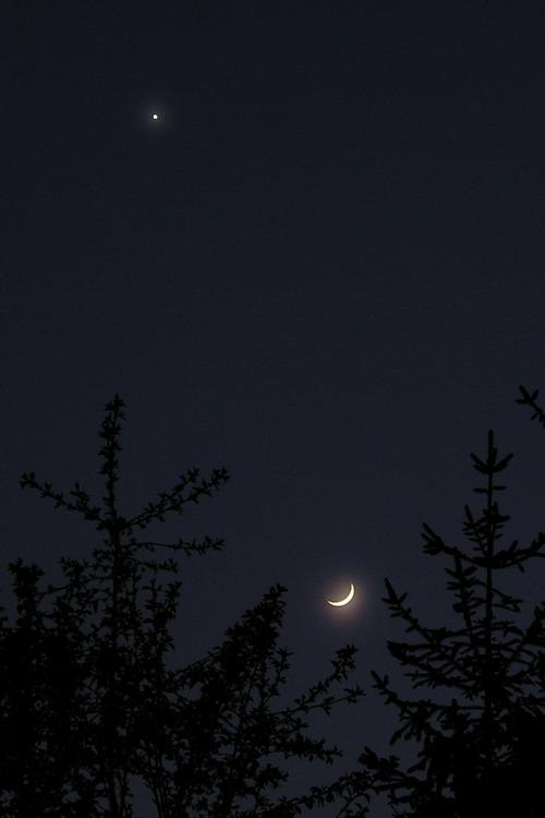 Księżyc i Wenus 22 kwietnia 2004