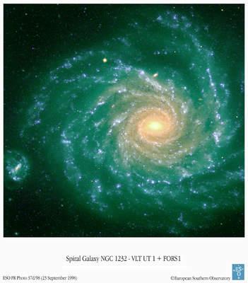 Galaktyka NGC 1232 okiem VLT