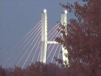 Most Siekierkowski wczasie zaćmienia