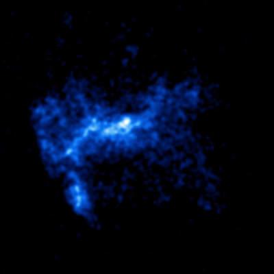 Linia K żelaza mgławicy W49B widziana przez Chandrę