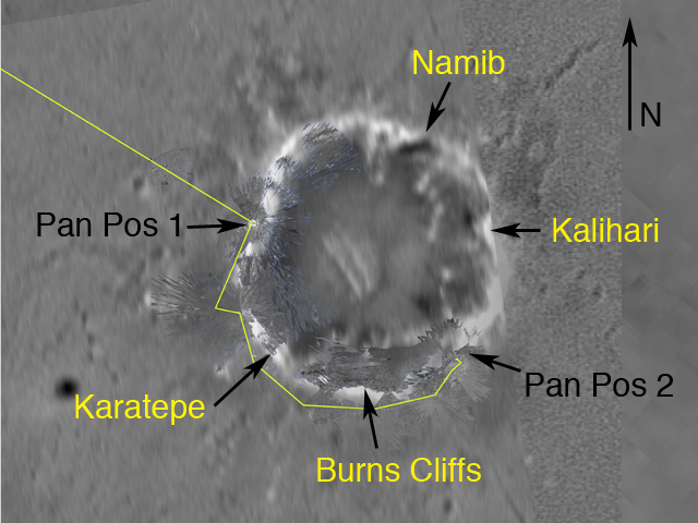 Mapa krateru Endurance