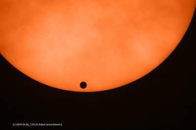 Wenus wędruje przed Słońcem (I)