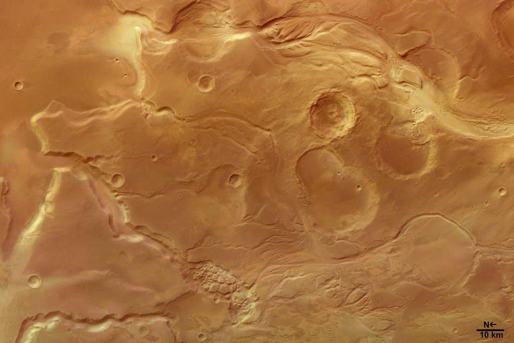 Mars Express ogląda Mangala Valles na Marsie