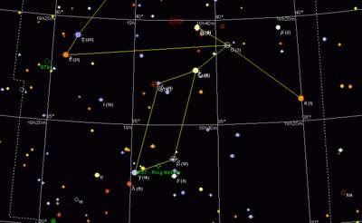 Lutnia - mapa gwiazdozbioru
