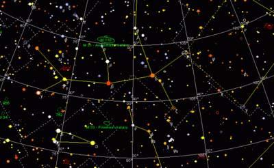 Andromeda iTrójkąt - mapa gwiazdozbiorów