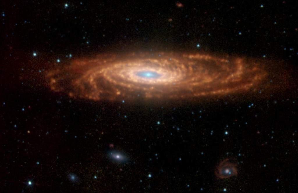 Złożenie zdjęć NGC 7331 w podczerwieni