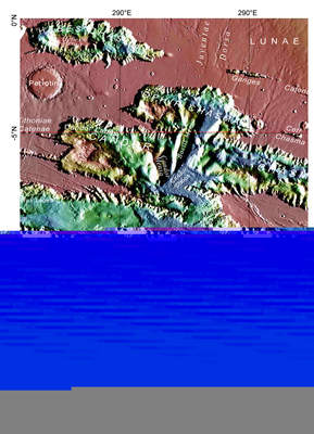 Mapka Melas Chasma