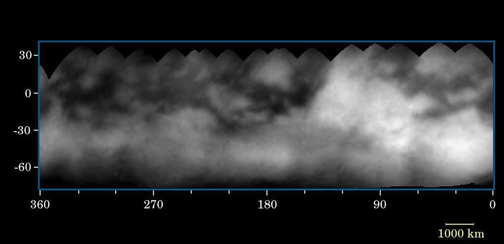 Mapa powierzchni Tytana zCassiniego