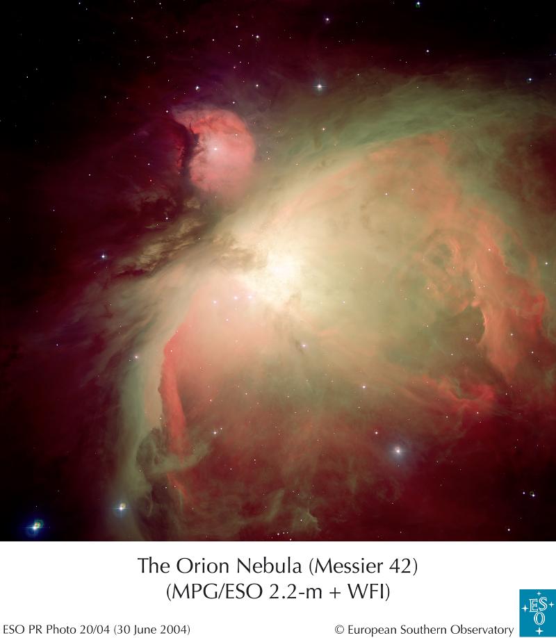Złożenie zdjęć mgławicy Oriona