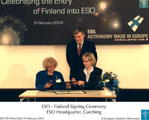 Finlandia wstępuje do ESO