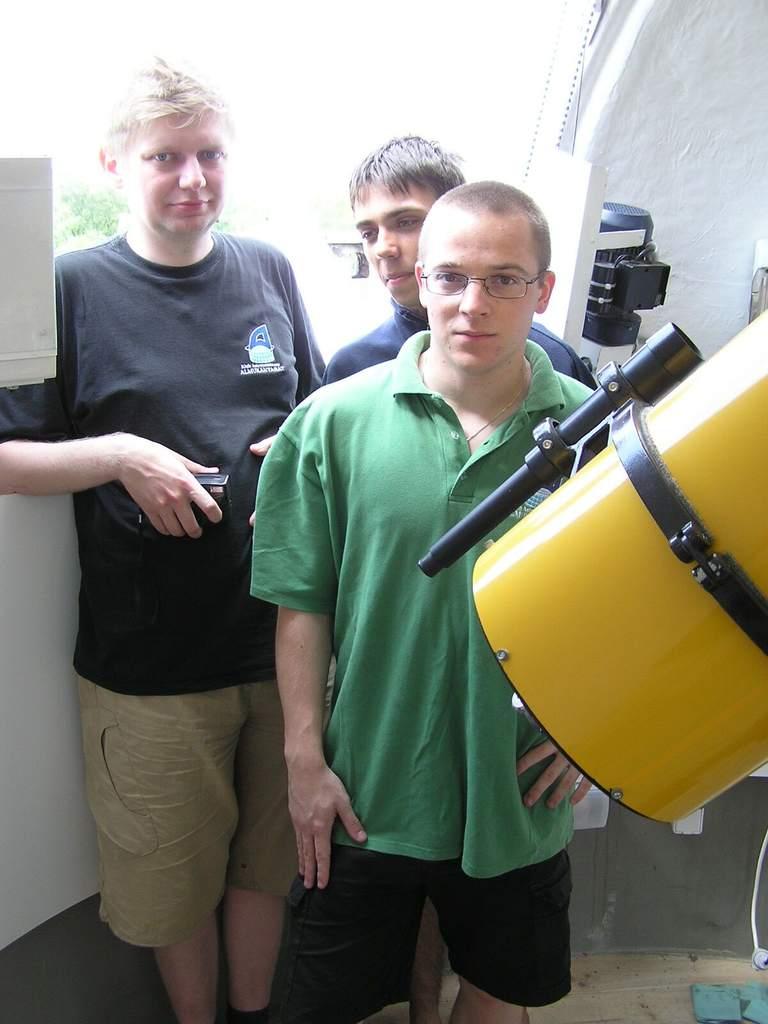 Redakcja AstroNETu w kopułce w Załęczu