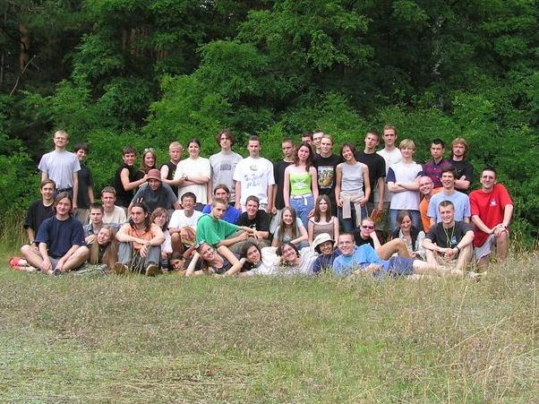 Uczestnicy drugiego obozu 2004