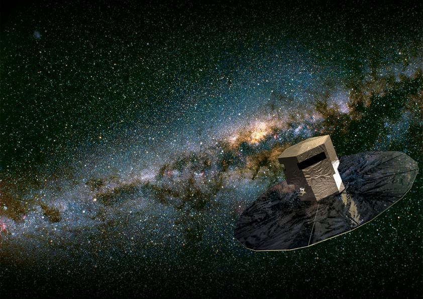 Artystyczna wizja satelity Gaia