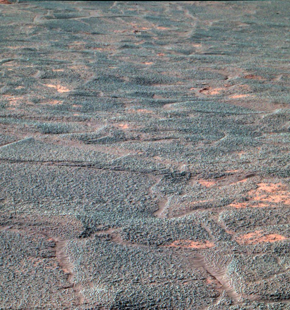 Wnętrze krateru Endurance okiem Opportunity