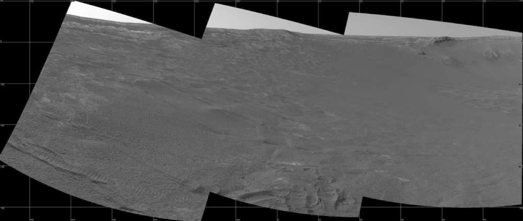Brzeg krateru Endurance okiem Opportunity