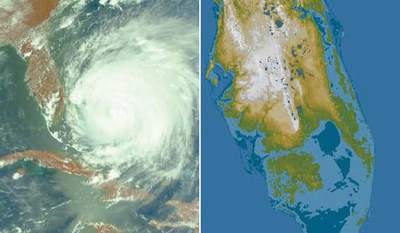 Huragan Frances + prognoza powodziowa