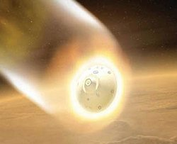 Wejście kapsuły Genesis w ziemską atmosferę