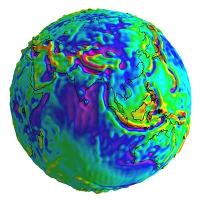 Trójwymiarowy diagram anomali grawitacyjnych