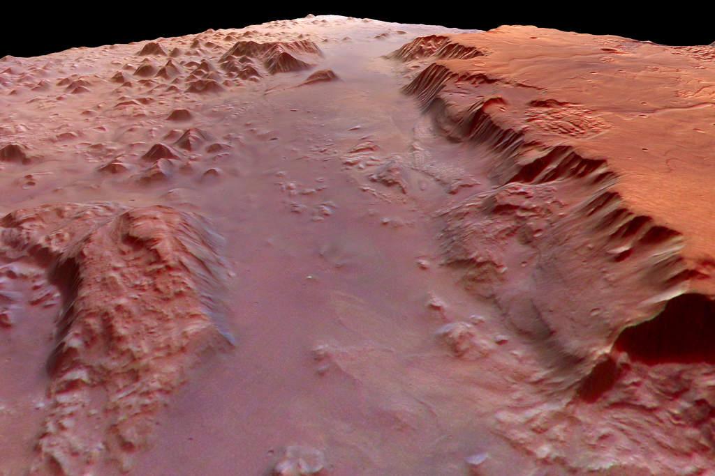 Eos Chasma w perspektywie