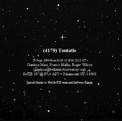 Przelot planetoidy 4179 Toutatis