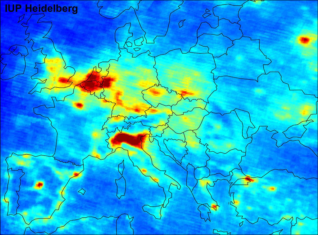 Zanieczyszczenie powietrza dwutlenkiem azotu nad Europą