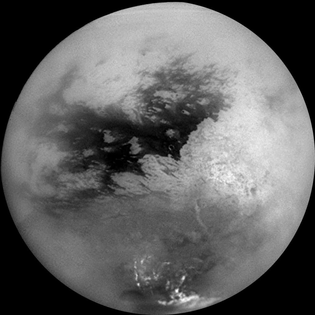 Tytan - mozaika z sondy Cassini