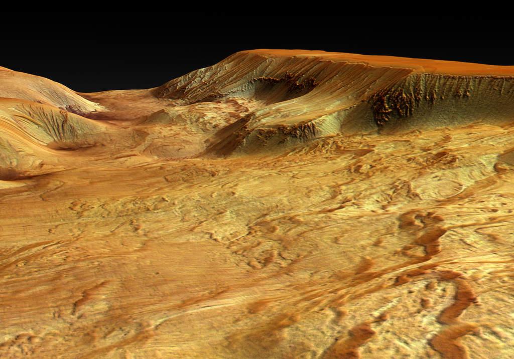 Ophir Chasma perspektywicznie
