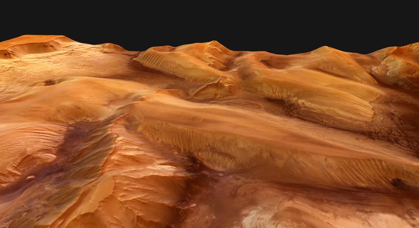 Ophir Chasma perspektywicznie (IV)