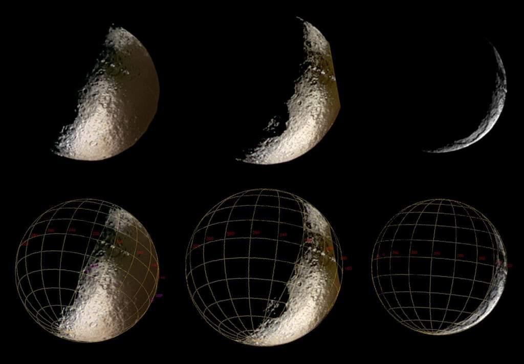 Japetus - syntetyczne zdjęcia zCassiniego