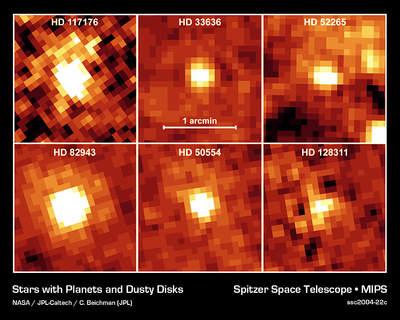 Zdjęcia dysków wokół gwiazd typu Słońca - Spitzer