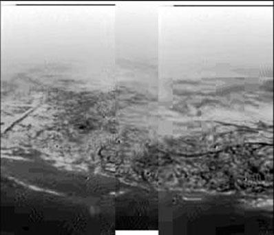 Zdjęcie powierzchni Tytana.