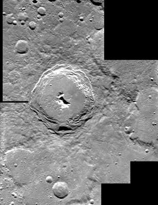 Krater Pitagoras zpokładu statku SMART-1