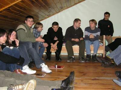 Uczestnicy pierwszego zimowiska ALMUKANTARATU w roku 2005