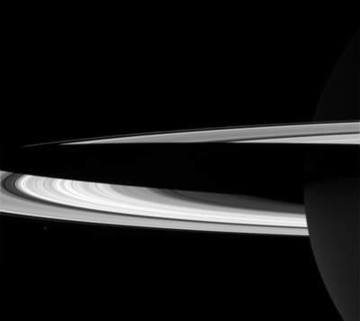 Cień planety napierścieniach