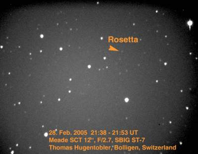 Sonda Rosetta sfotografowana przezastroamatora