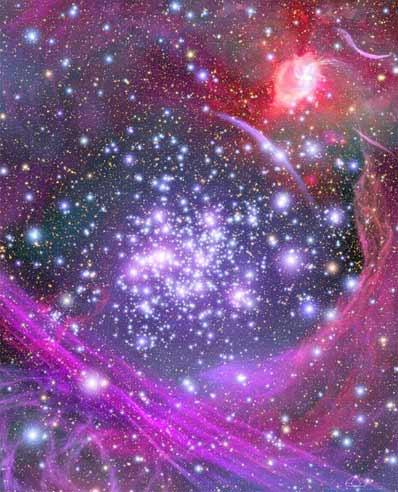 Artystyczna wizja gromady Łuki