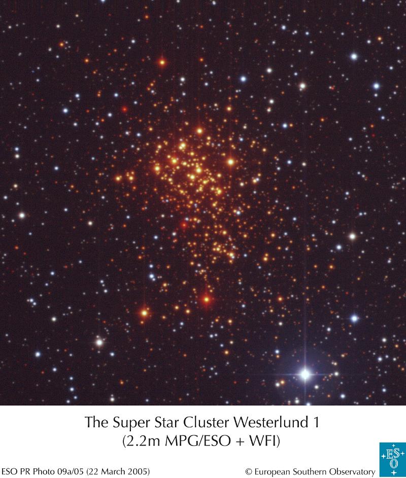 Westerlund 1 - supergromada w Drodze Mlecznej