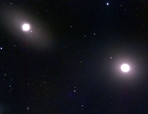 Mgławice planetarne w M105 a ciemna materia