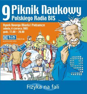 Plakat 9. Pikniku Naukowego w Warszawie