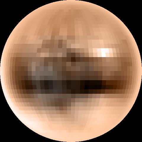 Mapa Plutona w prawdziwych kolorach