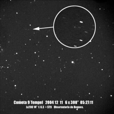 Kometa Tempel w 2004 roku