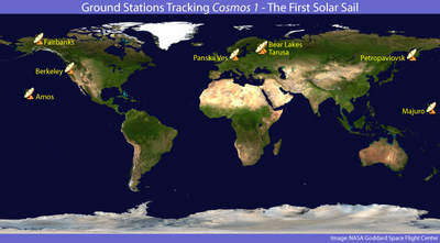 Mapa stacji śledzących