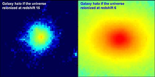 Gwiezdne halo - wskazuje na czas rejonizacji