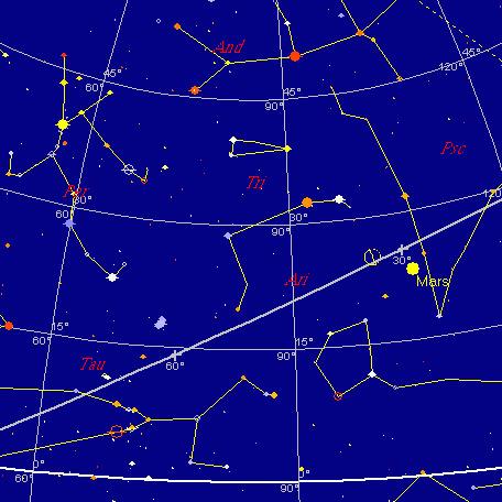 Niebo na wschodzie 28 lipca 2005 o 2:00
