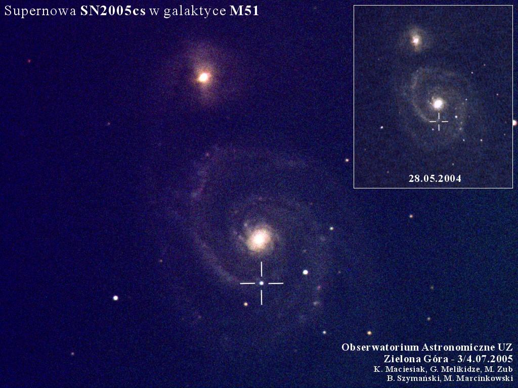 Supernowa SN2005cs w galaktyce M51