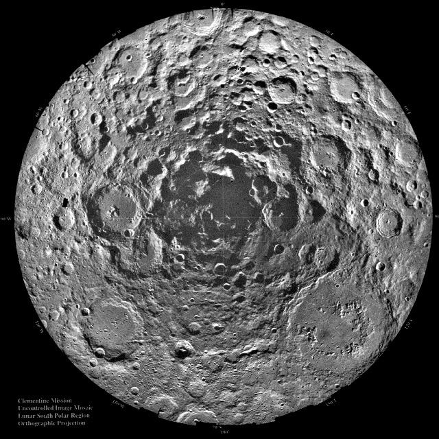 Południowy biegun Księżyca.