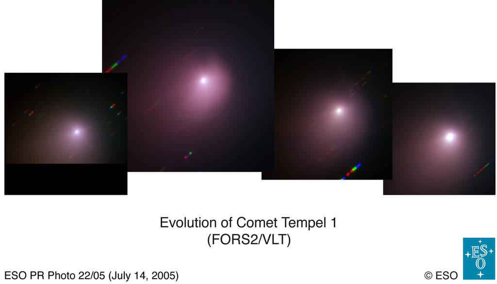 Tempel 1 obserwowana przez VTL