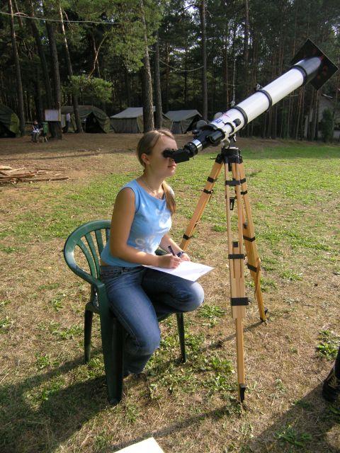 Obserwacje Słońca na I obozie 2005